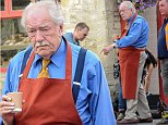 Filming continues in the fictitious town of Pagford AKA Northleach in Gloucestershire, for the forthcoming 3 part adaptation of the Harry Potter author J K Rowling's first adult novel.\n\nPictured: Sir Michael Gambon (Howard Mollison)\nRef: SPL814568  060814  \nPicture by: Wakeham / Splash News\n\nSplash News and Pictures\nLos Angeles: 310-821-2666\nNew York: 212-619-2666\nLondon: 870-934-2666\nphotodesk@splashnews.com\n