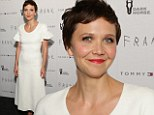 Maggie Gyllenhaal dons a white frock as she attends Frank premiere... just days after revealing her first name is actually 'Margalit'