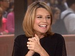 Gleeful: With her due date just around the corner, Savannah Guthrie (pictured) announced live on the Today show this morning, 'I'm going to go on maternity leave after Monday. I'm excited!'
