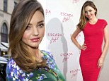 From green goddess to lady in red! Miranda Kerr sets pulses racing in TWO tight-fitting outfits at an Escada event in Germany