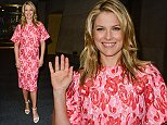 """NEW YORK, NY - AUGUST 07:  Actress Ali Larter leaves the """"Today Show"""" taping at the NBC Rockefeller Center Studios on August 7, 2014 in New York City.  (Photo by Ray Tamarra/GC Images)"""