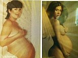 'I got it from my mama': Kourtney Kardashian compares her pregnant nude form to that of her mullet-clad momager Kris Jenner