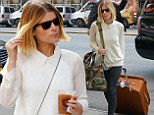 Hitting the ground running! Kate Mara checks in and refuels before taking to the streets of New York