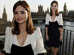 Dr Who star Jenna Coleman during a photocall to launch the new Dr Who series at the Marriott County Hall, London. PRESS ASSOCIATION Photo. Picture date: Thursday August 7, 2014. The first feature-length edition of the new series, called Deep Breath, will be beamed into screens around the globe from August 23 to allow fans to share the moment as Peter Capaldi takes on the role of The Doctor. Photo credit should read: Jonathan Brady/PA Wire
