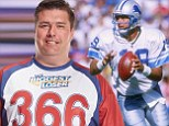 """DETROIT -- Scott Mitchell was listed at 6-foot-6, 240 pounds when he played quarterback for the Detroit Lions in the 1990s. He's not 240 pounds anymore.  Mitchell, who played quarterback for the Lions from 1994-98, is among the latest contestants for NBC's reality weight-loss show """"The Biggest Loser."""" His bio for the show says he now tips the scales at 366 pounds.  From his NBC bio: """"(Mitchell's) biggest motivation for going on the show was seeing his dad die of obesity-related causes early this year and knowing he could be headed down the same path if he doesn't change his life. Now 46 years old and 366 pounds, Mitchell has sleep apnea and high blood pressure. Weight has been an issue since age 35 due to a busy life and poor diet. With five kids ranging in age from 11 to 21, he wants to be there for his family and is ready to embrace a healthy lifestyle. When he loses the weight, he says he wants to look amazing in clothes and be physically active.""""  Mitchell began his NFL career as D"""