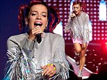 CHARLOTTE, NC - AUGUST 06:  Lily Allen performs at the Time Warner Cable Arena on August 6, 2014 in Charlotte, North Carolina.  (Photo by Jeff Hahne/Getty Images)