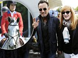 Bruce Springsteen with Patti Scialfa after watching their daughter Jessica Springsteen compete at the Dublin Horse Show at the RDS, Dublin. PRESS ASSOCIATION Photo. Picture date: Wednesday August 6, 2014. Photo credit should read: Brian Lawless/PA Wire