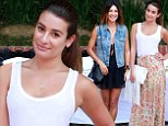 An event to remember: Jessica Szohr, left, and Lea Michele, right, radiated as they attended the Donatienne Fall 2014 Collection Brunch in Beverly Hills on Thursday