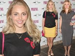 A tale of two beauties! AnnaSophia Robb sizzles in summery yellow mini-skirt... as Julia Stiles turns heads in grey dress at theatre premiere in New York