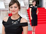 """LONDON, ENGLAND - AUGUST 07: Marion Cotillard attends the UK Premiere of """"Two Days, One Night"""" at Somerset House on August 7, 2014 in London, England. (Photo by Ian Gavan/Getty)"""