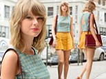 Do-gooder Taylor Swift gets leggy in ultra-short yellow mini-skirt and backless green top in NYC