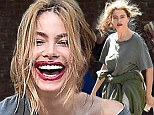 Rough shape: Sofia Vergara looked very dishevelled, unlike her usual self as she filmed Modern Family in Los Angeles on Thursday