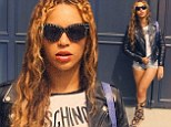 Beyonce parades her shapely legs in super tight shorts and gladiator sandals amid rumours of marital strife