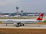 Banned: A Turkish Airlines plane taking off from Ataturk Airport in Istanbul. Turkish Airlines, one of the key foreign carriers flying to Iraq. All commercial flights to, from and over the country have been suspended until further notice