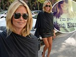 Identity crisis? Heidi Klum is not herself after showing how simplicity and style equals sexy in a short leather skirt