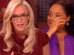 Farewell speech: Jenny McCarthy gave a goodbye address on Thursday during her last live taping of The View with fellow outgoing co-host Sherri Shepherd