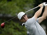 Rory McIlroy tees off on the 10th hole at Valhalla