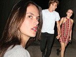 Olivia Cooke shows off her toned physique (and sexy arm candy) at the Arctic Monkeys' LA gig... while a covered-up Alessandra Ambrosio goes incognito
