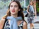 Alexa Chung displays her lean limbs in a chic floral frock... after Victoria's Secret Angels give her 'sexiest street style' title