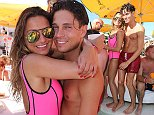 Sam Faiers and Joey Essex with Fearne McCann at Lipsy London in Association with Ocean Beach Ibiza Pool Party Takeover