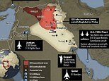 Surrounded: The U.S. has spent recent months moving its ships, jets and troops within striking distance with today's attack on ISIS coming from the Persian Gulf