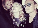 Madonna parties with Bono and David Blaine