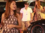 Date night! Pregnant Vanessa Minnillo and Nick Lachey enjoy a quiet dinner before the birth of their new daughter