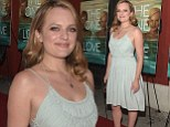Blonde ambition! Elisabeth Moss lightens her locks even more... and dazzles in baby blue mini-dress at The One I Love screening
