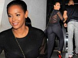 Simply sexy! Mel B makes her fit physique the centre of attention in a sheer ensemble on a dinner date with husband Stephen Belafonte