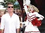 Simon Cowell and Madonna