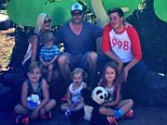 'We had the best day!' Tori Spelling and Dean McDermott pose for a sweet family photo with their brood during fun outing to the zoo