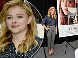 """SAN MATEO, CA - AUGUST 07: Chloe Grace Moretz attends the """"If I Stay"""" book signing at Hillsdale Shopping Center on August 7, 2014 in San Mateo, California. (Photo by Steve Jennings/WireImage)"""