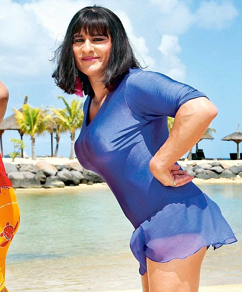 Men in skirts: Saif Ali Khan has picked the safe route, slipping into a woman's costume in Humshakals