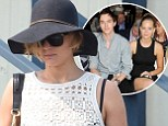 Flying high since split? Jennifer Lawrence spotted the first time since breakup with Nicholas Hoult choppering into New York