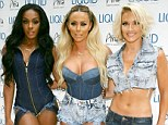 Still together... just: The band are now a trio, consisting of (L-R) Dawn Richard, Aubrey O'Day and Shannon Bex