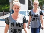 'I'm not sorry!' Kendra Wilkinson sends a clear message via an attention seeking T-shirt while still facing marriage woes