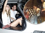 Honeymoon's over! Adam Levine's date with new wife Behati Prinsloo screeches to a halt after his vintage car runs out of gas