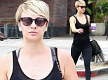 Kaley Cuoco shields her weary eyes behind a pair of dark shades as she perks herself up with a coffee on outing in LA