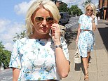 TOWIE's Danielle Armstrong steps out in ladylike floral two-piece as she heads to her new boutique