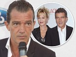 Divorce taking its toll? Antonio Banderas looks tired and gaunt as he hosts an event in his hometown of Spain