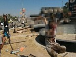 Savagery: A man is crucified in northern Syria by Islamic State militants