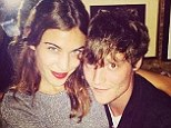 All loved up: Alexa Chung is pictured with rumoured new boyfriend, vocalist Matt Hitt of the rock band Drowners