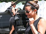 Subtle yet sexy: Lea Michele showed off her toned limbs in a revealing maxi dress as she left her home in Los Angeles on Friday