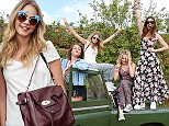 OXFORD, ENGLAND - AUGUST 09:  (L to R) Jaime Winstone, Cara Delevingne, Poppy Jaime and Gala Gordon attend The Mulberry Wilderness Picnic with Cara Delevingne during Wilderness 2014 at Cornbury Park on August 9, 2014 in Oxford, England.