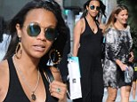 Maxi-MUM style: Pregnant Zoe Saldana dresses baby bump in chic floor-length summer dress for day of retail therapy