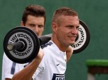 COMO, ITALY - AUGUST 08:  Nemanja Vidic of FC Internazionale during a training session at Appiano Gentile on August 8, 2014 in Como, Italy.  (Photo by Claudio Villa - Inter/Getty Images)