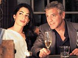 George Clooney and Amal Alamuddin celebrate Rande Gerber  birthday April 27, 2014 in Santa Barbara, California.  (Photo by Marcel Winston/Getty Images Images) *** Local Caption *** George Clooney; Amal Alamuddin