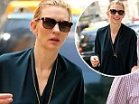 Wet hair don't care! Style icon Cate Blanchett still manages to look chic as she steps out with damp tresses and minimal make-up