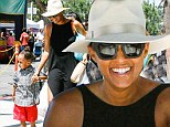 What feud? Charlize Theron bust up looks far from Tia Mowry's mind as she has great day at farmers market with her boy Cree