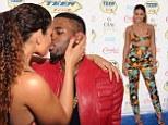 Get a room! Jordin Sparks bares midriff in bikini top as she smooches Jason Derulo on the blue carpet of Teen Choice Awards